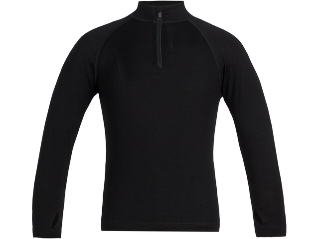 Icebreaker 260 Tech Langarm Half Zip Shirt Kinder black